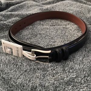 Perry Ellis Portfolio Men's Black Belt sz 34 NWT